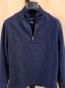 Lands End boys sweatshirt with zip at neck